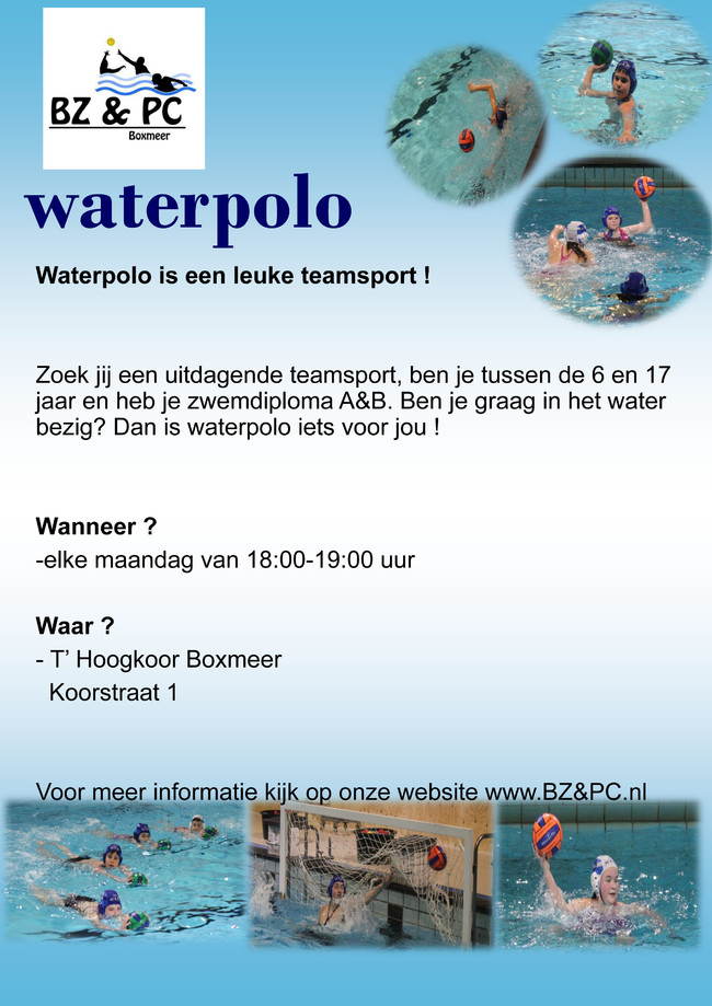 Jeugd-waterpolo in Boxmeer
